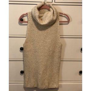 Sleeveless Turtle Neck Sweater
